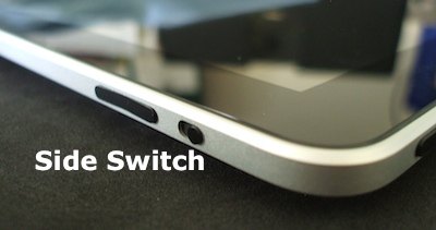 side switch on iPad