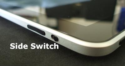 side switch on iPad