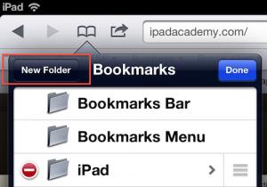 Safari bookmark folder