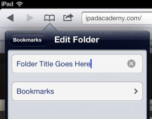 Safari bookmark folders