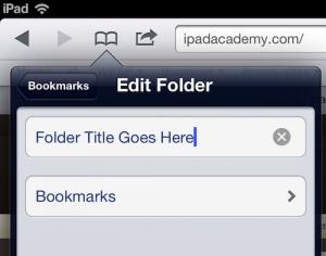 Safari bookmark folders