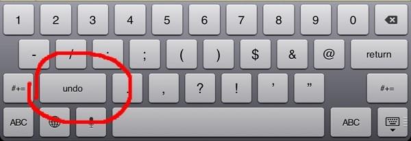 Keyboard undo key