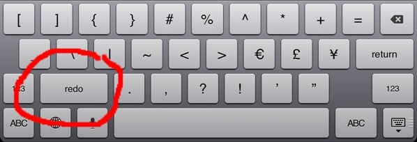 Keyboard undo key