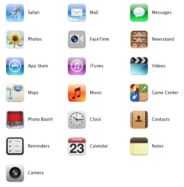iPad default apps