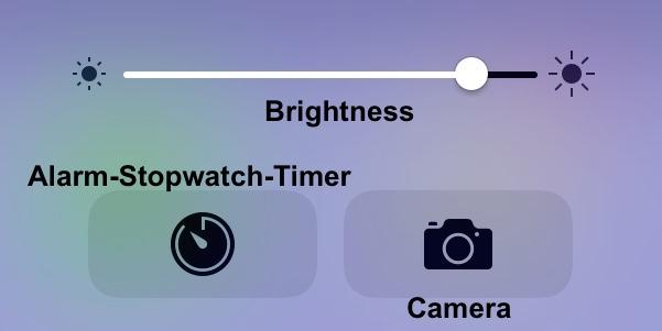 brightness - timer - camera