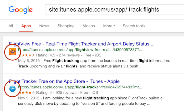 app search 4 google