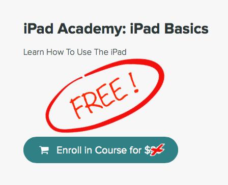 free iPad basics class