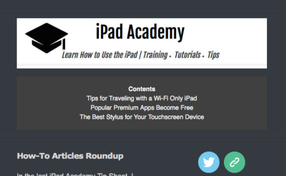 iPad Tip Sheet November