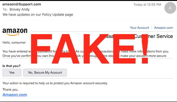 phishing fake email